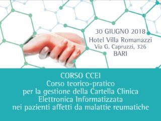 Corso teorico-pratico per la gestione della Cartella Clinica Elettronica Informatizzata nei pazienti affetti da malattie reumatiche