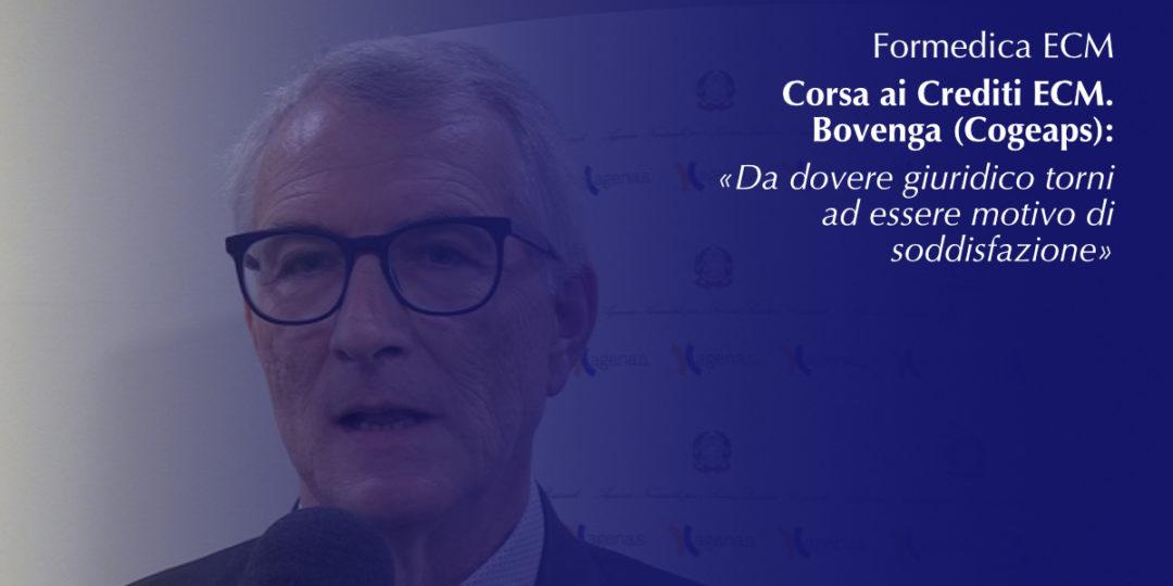Corsa ai Crediti ECM. Bovenga (Cogeaps): «Da dovere giuridico torni ad essere motivo di soddisfazione»